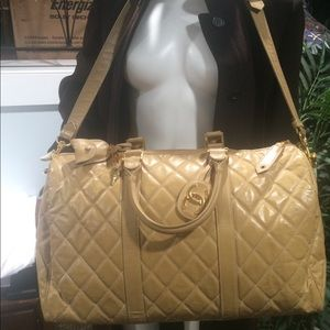 RARE  Vintage CHANEL Quilted PVC Weekender.
